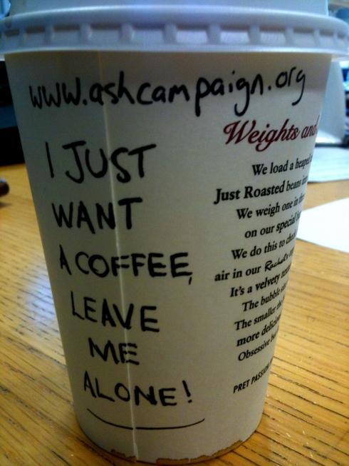 """""""I just want a coffee, leave me alone!"""""""