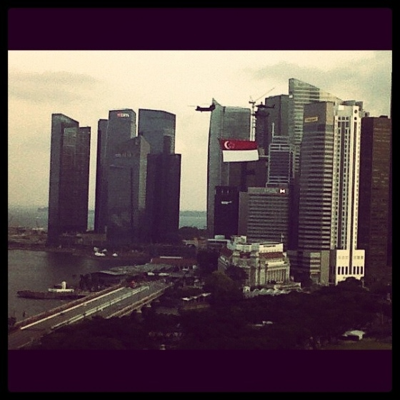 Singapore Skyline Independence Day
