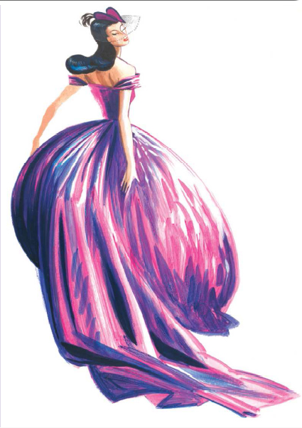 Dita Von Teese Vivienne Westwood Purple Wedding Dress illustration