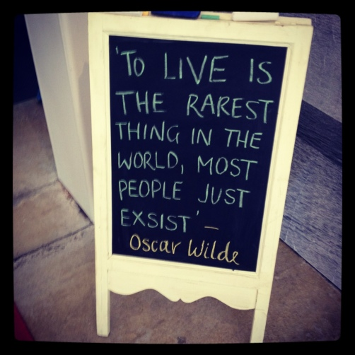 To Live is the rarest thing in the world, most people just exist. Oscar Wilde Quote