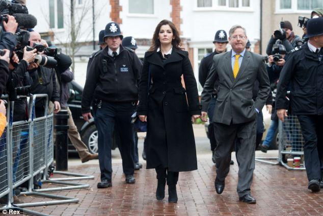 Nigella Lawson arrives at court like a bias