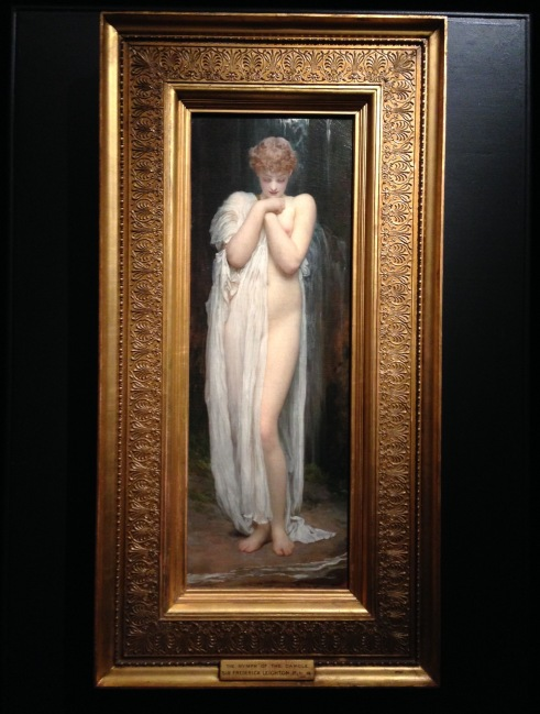 Crenaia (the Nymph of the Dargle) by Leighton (1880)