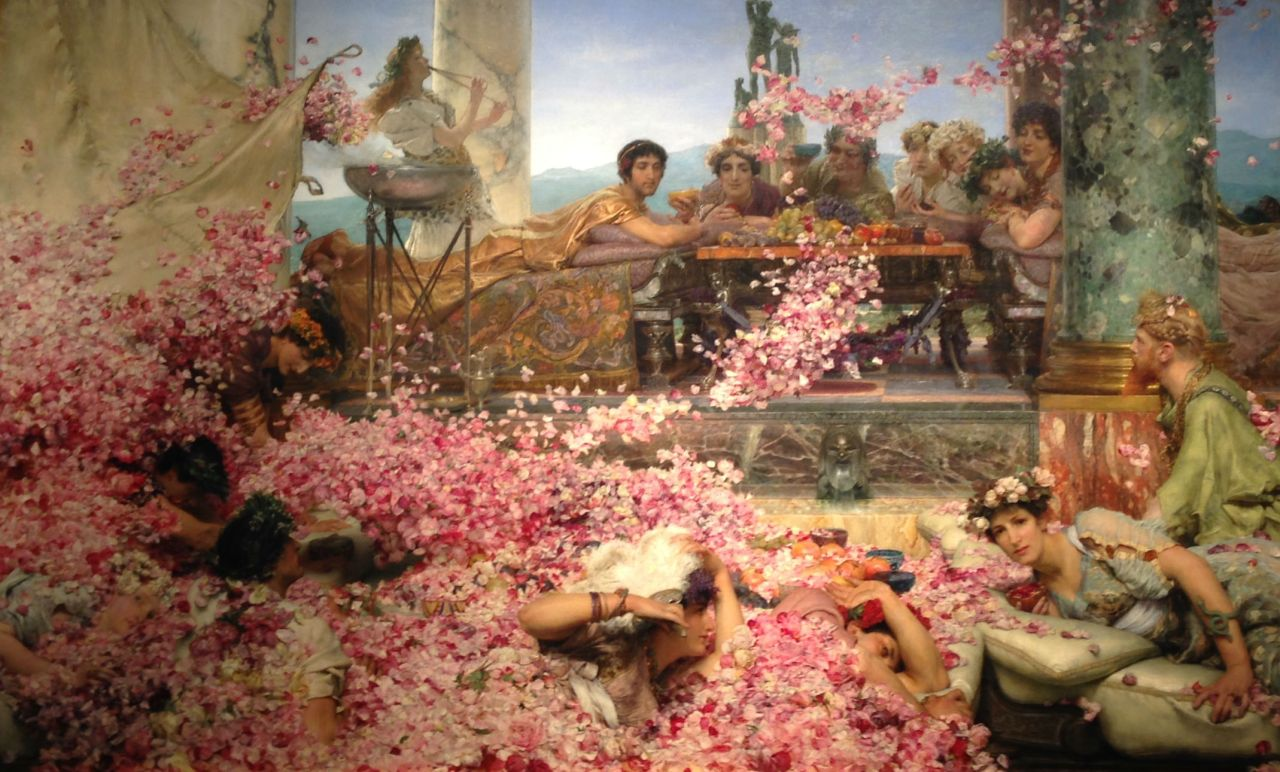 The Roses of Heliogabalus is an 1888 painting by the Anglo-Dutch academician Sir Lawrence Alma-Tadema (1888)